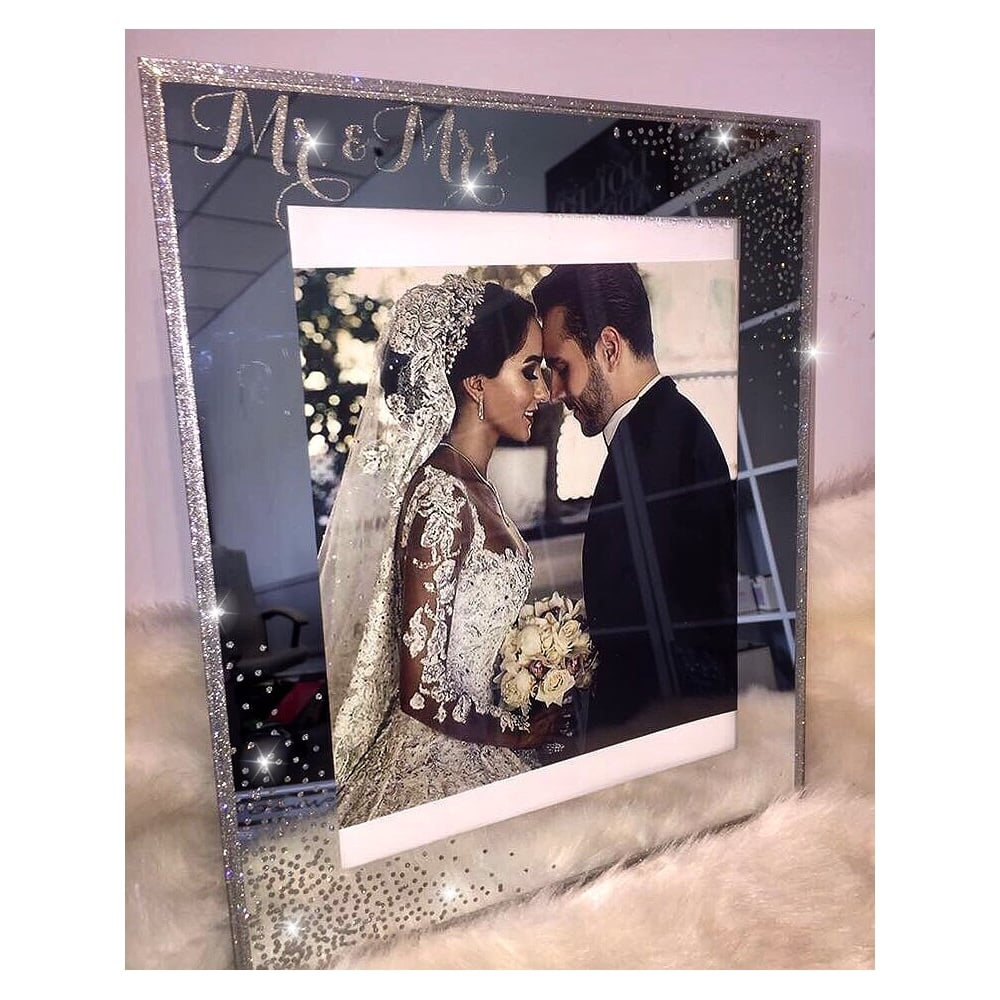 Lemonade Crystal Mr Mrs Photo Frame