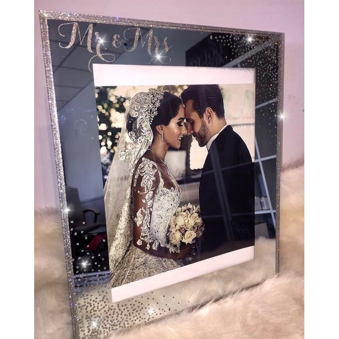 Lemonade Crystal Mr & Mrs Photo Frame