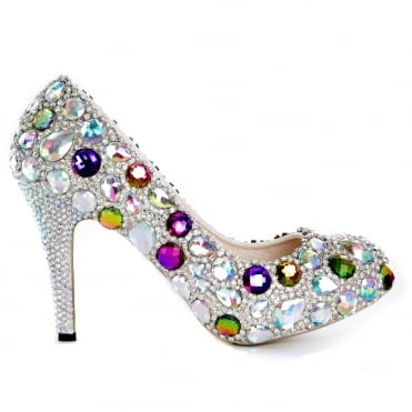 Lemonade Crystal Sparkly Gem Shoes *SIZE 7 ONLY*