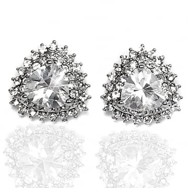 Lemonade Crystal Sparkly Lace Stud Earrings