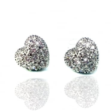 Lemonade Crystal Sparkly Mini Amour Love Heart Earrings
