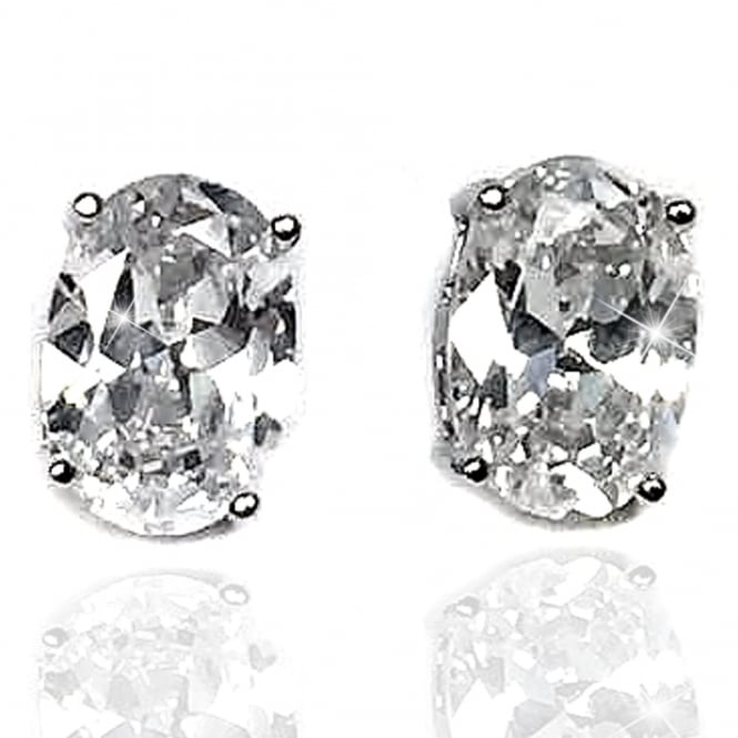 Lemonade Crystal Sparkly Oval Ice Style Earrings