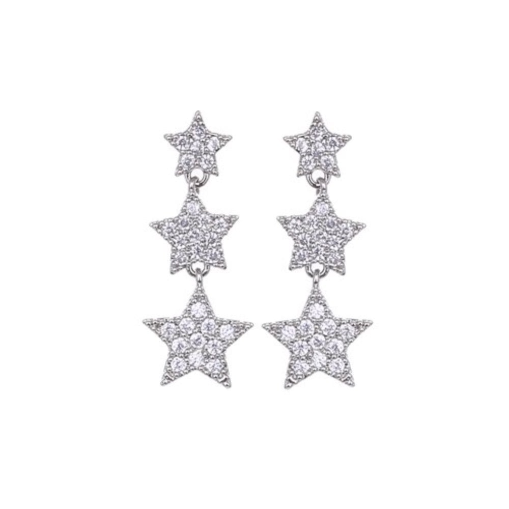 Lemonade Crystal Star Drop Earrings