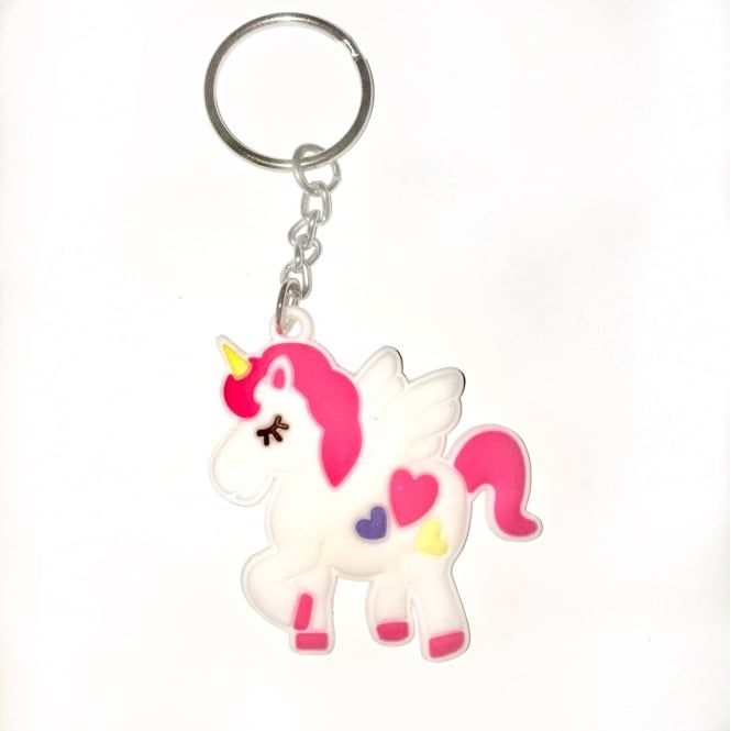 Lemonade Cute Unicorn Rubber Keyring
