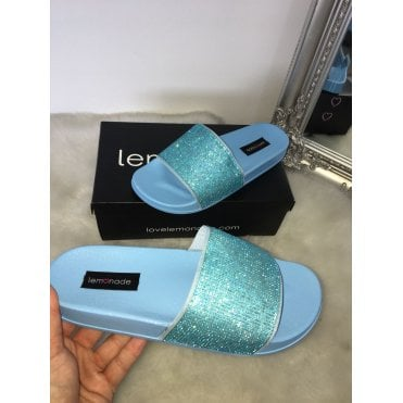 Lemonade Dazzle Sliders Baby Blue