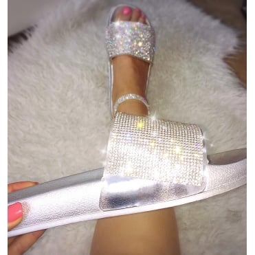 Lemonade Dazzle Sliders Silver