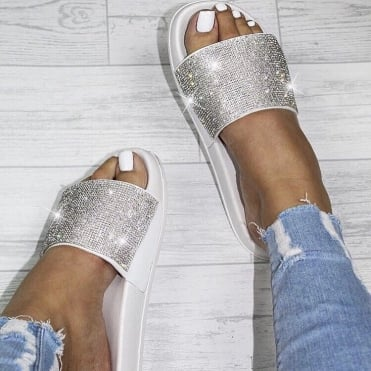 Lemonade Dazzle Sliders White