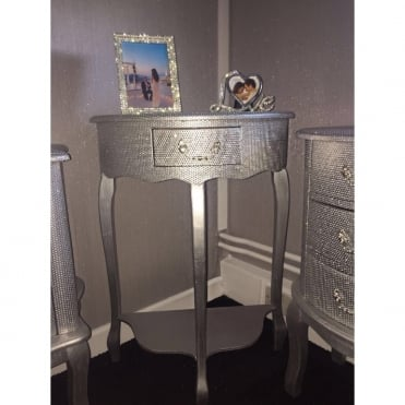 Lemonade Diamonique Single Drawer Console