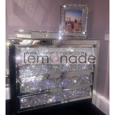 Lemonade Elite Crushed Diamonds Chest Of Drawers