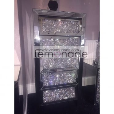 Lemonade Elite Crushed Diamonds Five Drawer Tallboy