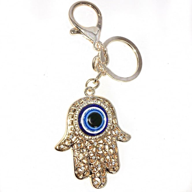 Lemonade Evil Eye Keyring Gold