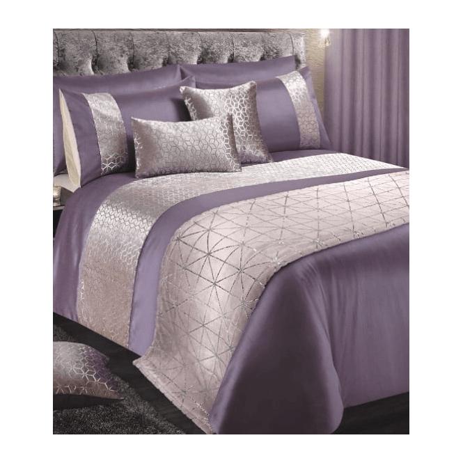 Lemonade Foil Print Bedding Curtains Lilac Super King