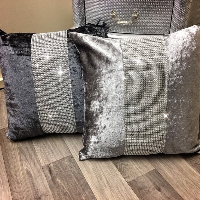 Lemonade Glam Velvet & Crystal Cushions