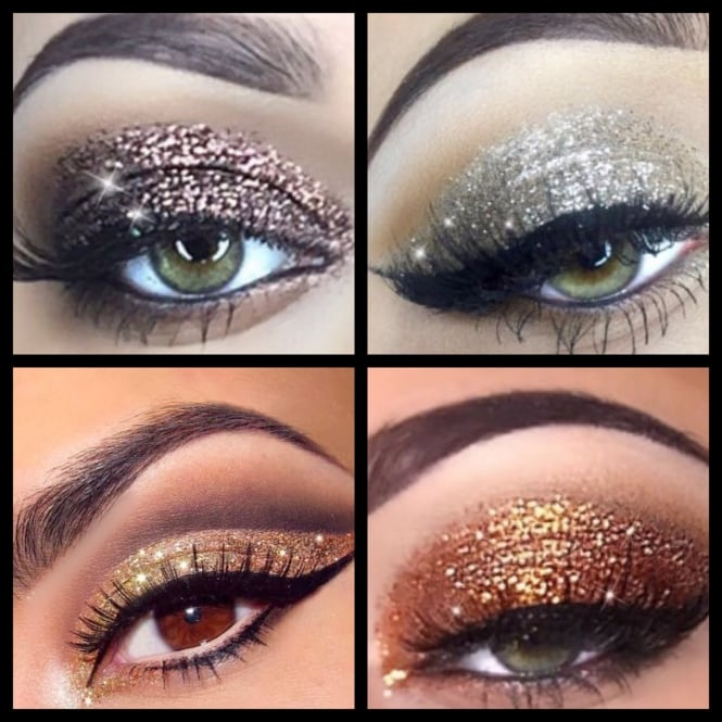 Lemonade Glitter Eyes Golden Goddess Set of 4 - INCLUDES APPLYING GEL