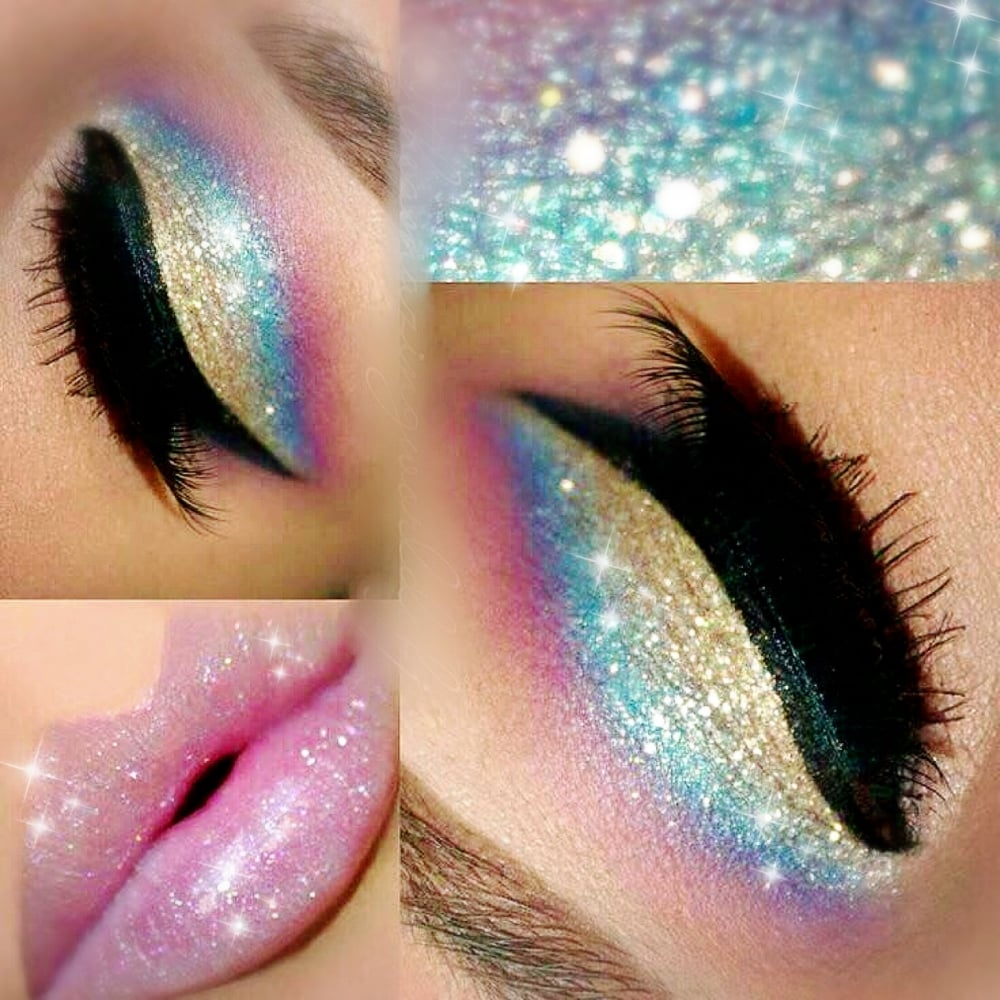 Lemonade Glitter Eyes Set Of 4 Multi Unicorn