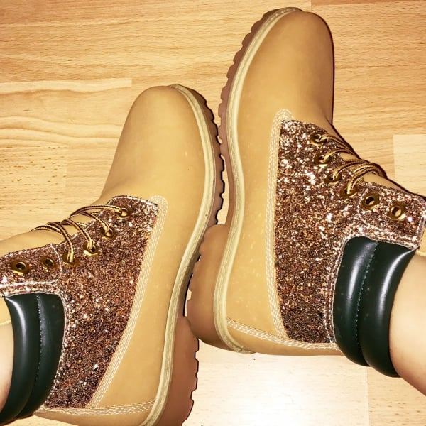Lemonade Glitter Tims Style Black And Gold Shop Shoes