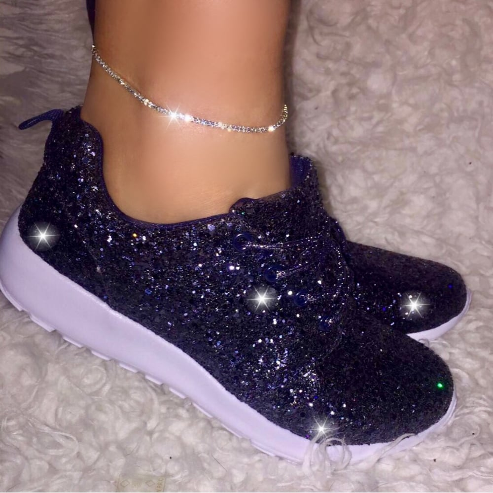 2b74b2d24a1c Lemonade - Diamante Navy Blue Sparkly Glitterbomb Trainers