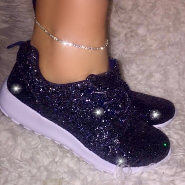Lemonade Glitterbomb Sparkly Trainers Navy
