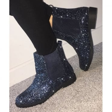 Lemonade Impulse Chelsea Ankle Boots Navy Blue