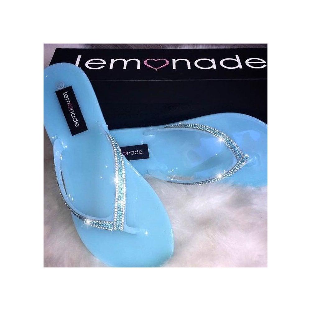 b073db1ed Lemonade Jelly Kiss Kiss Flip Flops Baby Blue   size 3   4 only   - SHOP  SHOES from Lemonade UK