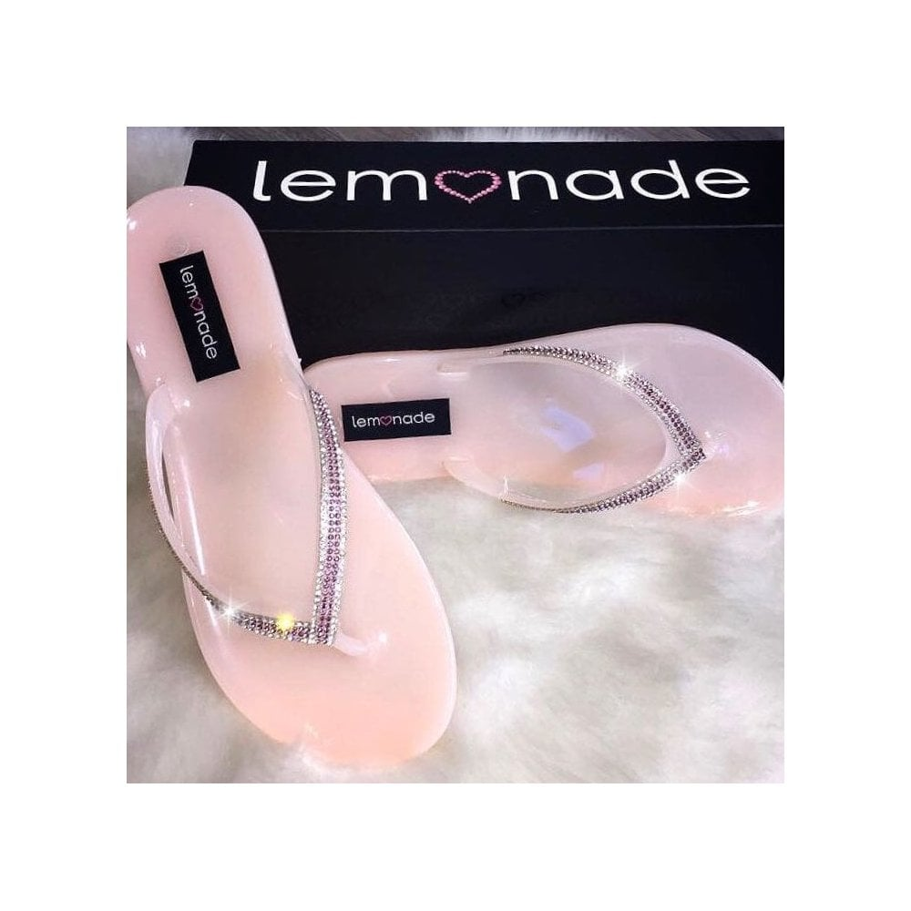 ff0196f6c63d Lemonade Jelly Kiss Kiss Flip Flops Baby Pink - SHOP SHOES from ...
