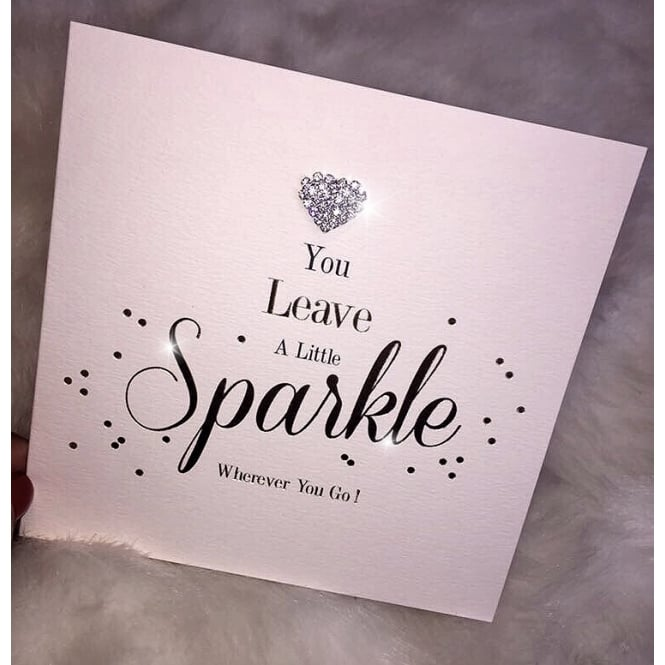 Lemonade 'Leave a Little Sparkle' Card