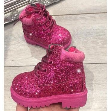 e8d6aa50830a LL Lemonade Little Lemmy Glitter Timms Boots Hot Pink