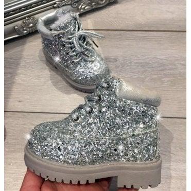 e226c22c8767 LL Lemonade Little Lemmy Glitter Timms Boots Silver