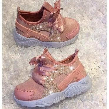 fc571fddca1f LL Lemonade Little Lemmy Glitter Trainers Pink Fizz