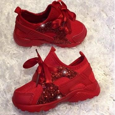 e4cd8f3744f4 LL Lemonade Little Lemmy Glitter Trainers Red