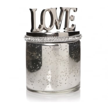 Lemonade Love Bling Silver Candle Jar