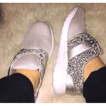 Lemonade Luxe Trainers Silver **SIZE 3 & 4 ONLY**