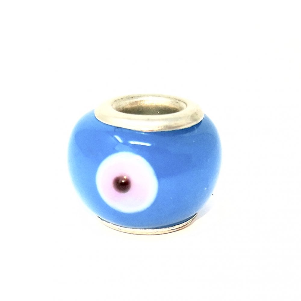 Lemonade Pandora Style Light Blue Evil Eye Charm Shop Accessories
