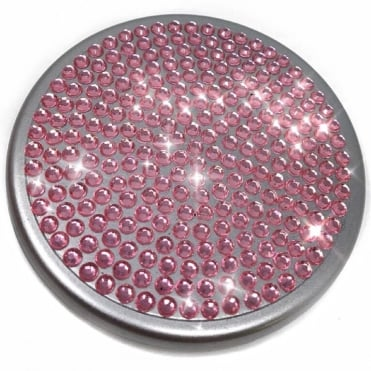 Lemonade Pink Crystal Compact Mirror