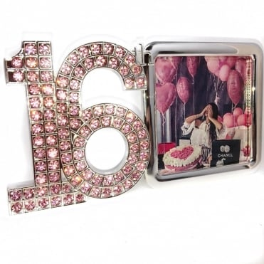 Lemonade Pink Swarovski Crystal 16th Birthday Photo Frame