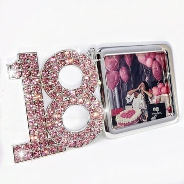 Lemonade Pink Swarovski Crystal 18th Birthday Photo Frame