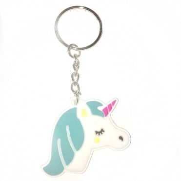Lemonade Pretty Unicorn Rubber Keyring