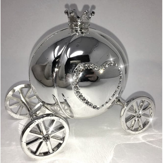 Lemonade Princess Carriage Money Box Silver