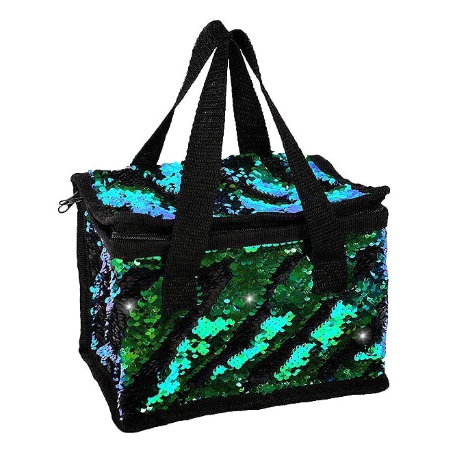 Lemonade Sequin Cooler Bag Black & Multi