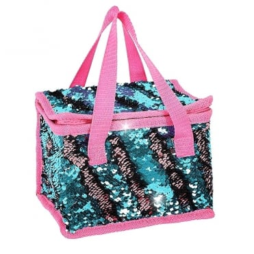 Lemonade Sequin Cooler Bag Pink & Blue