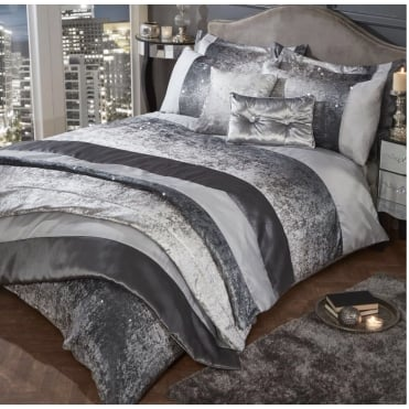 Lemonade Sequin Smokey Duvet and Pillow Cases Set