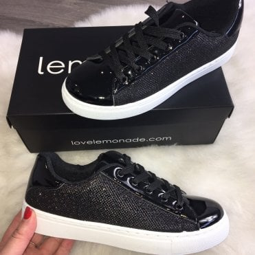 Lemonade Shimmer Sneakers Black