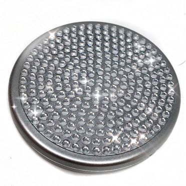 Lemonade Silver Crystal Compact Mirror