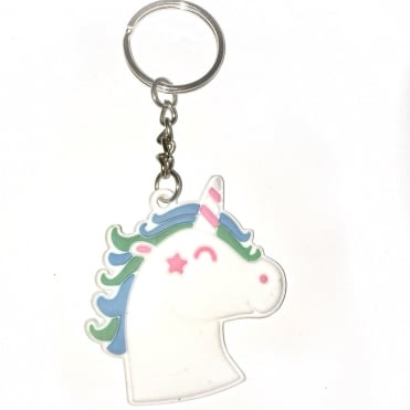Lemonade Sky Unicorn Rubber Keyring