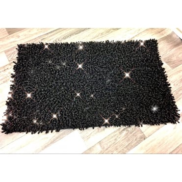 Lemonade Sparkle Fleck Bath Mat Black