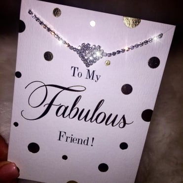 Lemonade 'To My Fab Friend' Bracelet Card