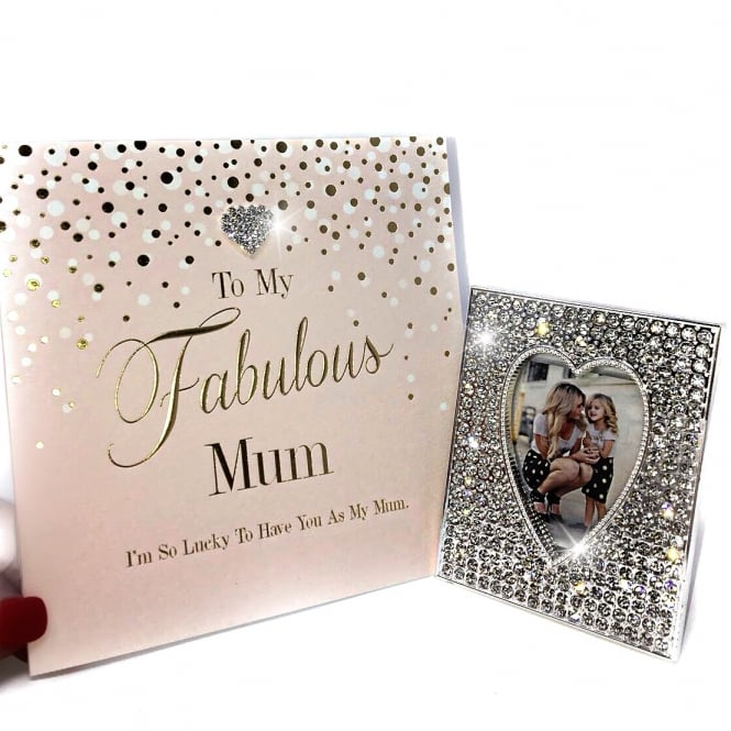 Lemonade 'To My Fabulous Mum ' Gift Set Heart Frame