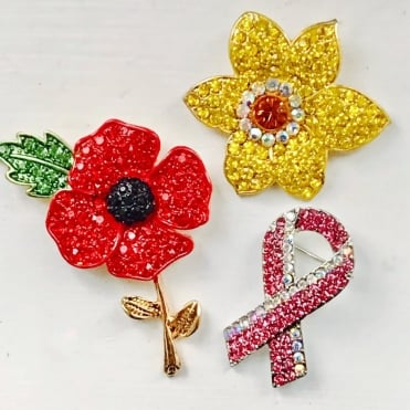 Lemonade Trio Pack Crystal Charity Brooches