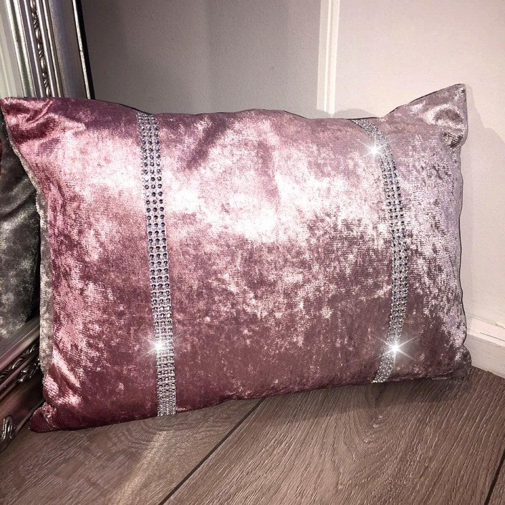 Lemonade Velvet Ombré Pink Rectangle Cushion