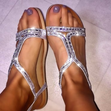 Lemonade Wave Sandals Silver
